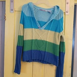 Multi colored striped Mudd sweater size XL